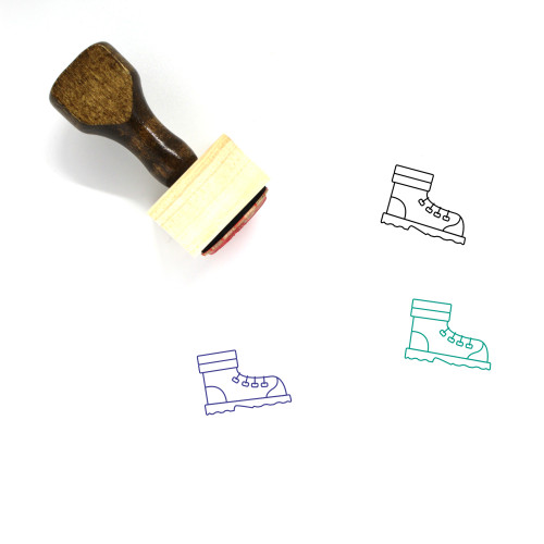 Mountain Shoes Wooden Rubber Stamp No. 1