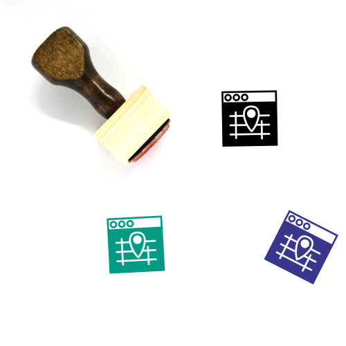 Map Wooden Rubber Stamp No. 568