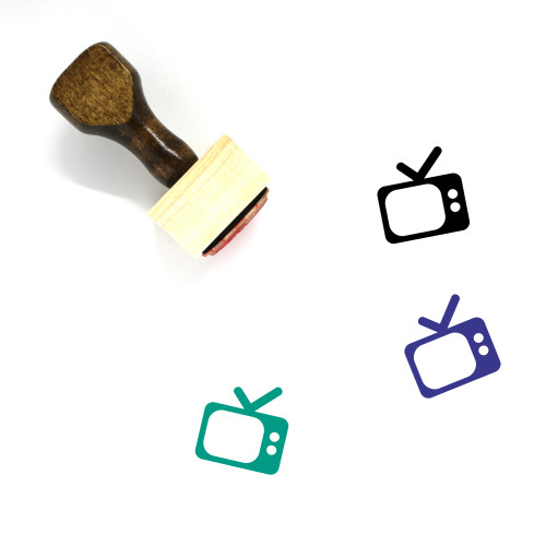 Television Wooden Rubber Stamp No. 141