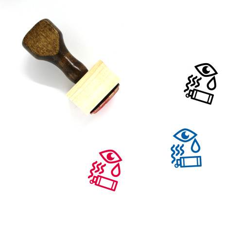 Tear Gas Wooden Rubber Stamp No. 2