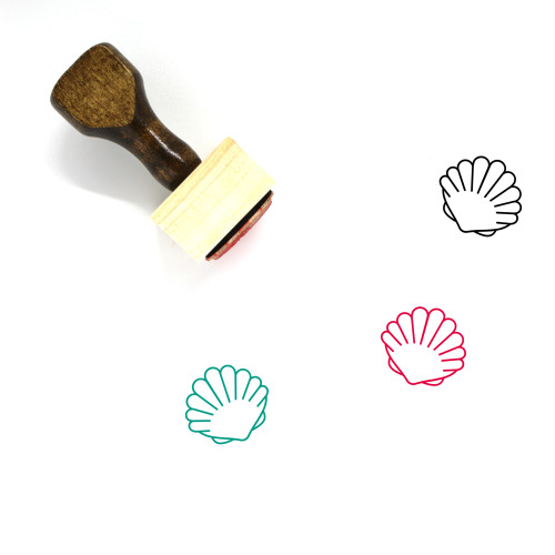 Shell Wooden Rubber Stamp No. 43