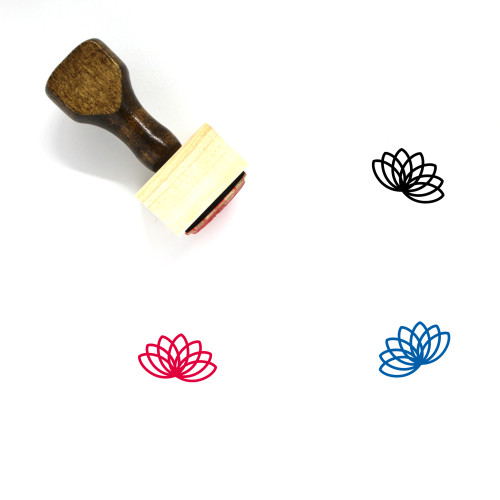 Lotus Wooden Rubber Stamp No. 34