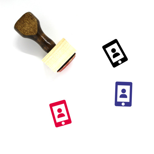 User Account Wooden Rubber Stamp No. 16