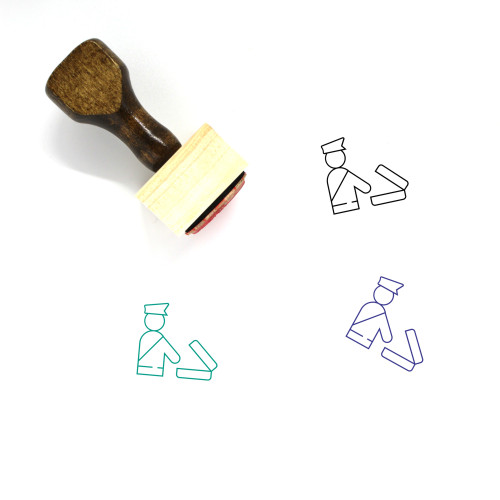 Customs Wooden Rubber Stamp No. 6