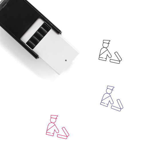 Customs Self-Inking Rubber Stamp No. 6