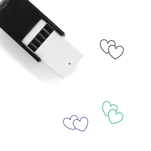 Hearts Self-Inking Rubber Stamp No. 263