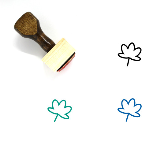 Autumn Leaves Wooden Rubber Stamp No. 7