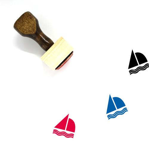 Sail Boat Wooden Rubber Stamp No. 17
