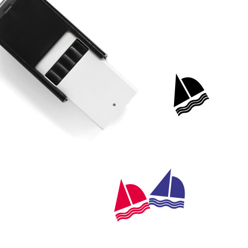 Sail Boat Self-Inking Rubber Stamp No. 17