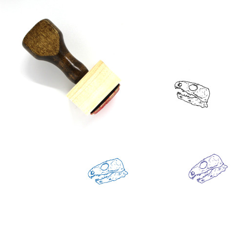 Kannemeyeria Skull Wooden Rubber Stamp No. 1