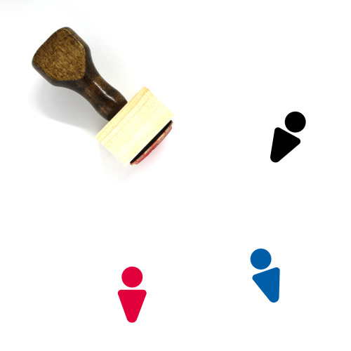 Male Wooden Rubber Stamp No. 104