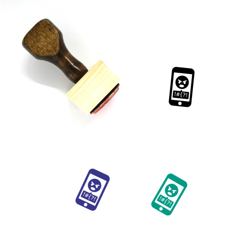 Cyberbullying Wooden Rubber Stamp No. 2