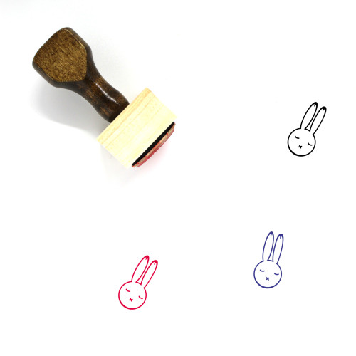 Bunny Wooden Rubber Stamp No. 106