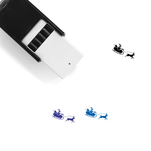 Santa Claus Sleigh Self-Inking Rubber Stamp No. 2
