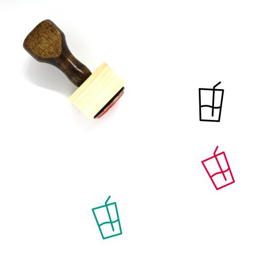Cool Drink Wooden Rubber Stamp No. 1