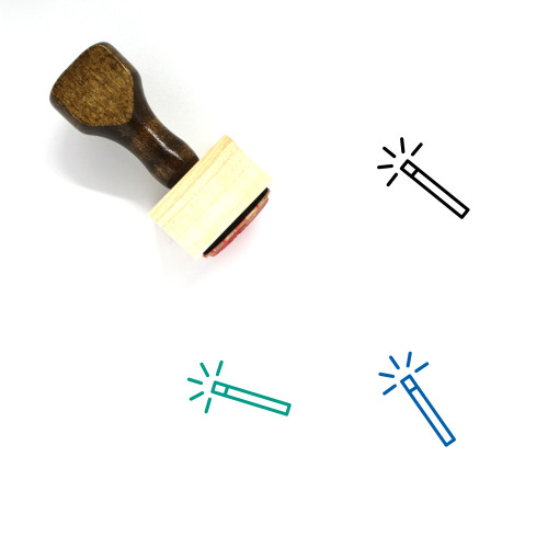 Magic Wand Wooden Rubber Stamp No. 43