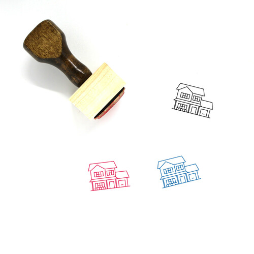 House Wooden Rubber Stamp No. 348