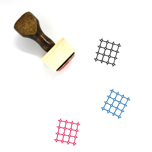 Net Wooden Rubber Stamp No. 57