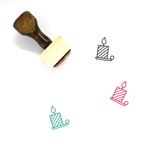 Candle Wooden Rubber Stamp No. 208