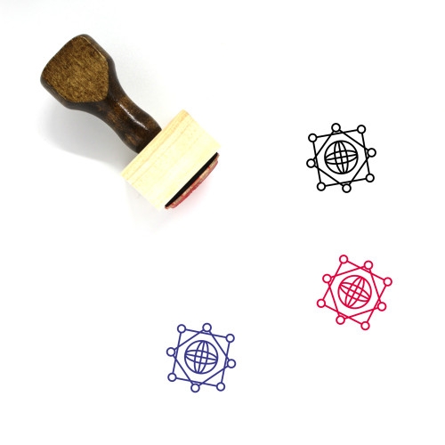 Global Network Wooden Rubber Stamp No. 45