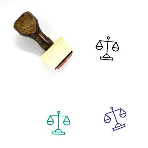 Balance Wooden Rubber Stamp No. 103
