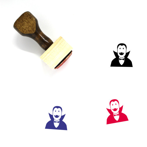 Dracula Wooden Rubber Stamp No. 5