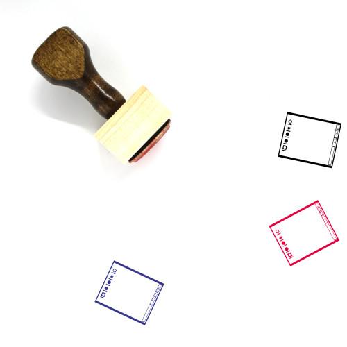 Operating System Layout Wooden Rubber Stamp No. 11
