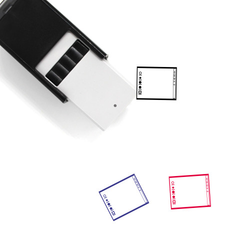 Operating System Layout Self-Inking Rubber Stamp No. 11