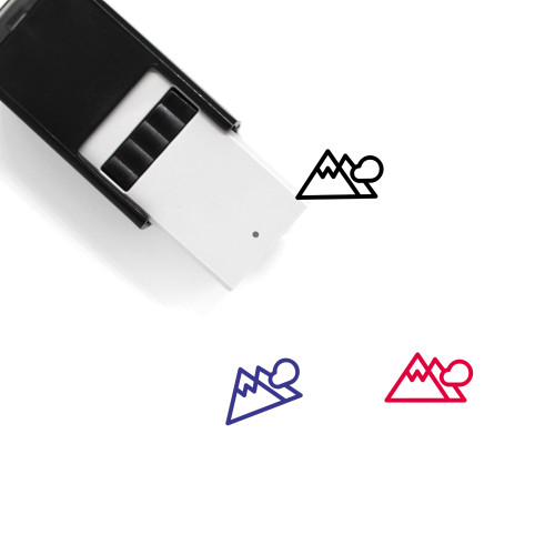 Mountains Self-Inking Rubber Stamp No. 262