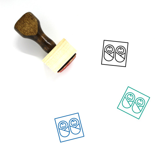 Twins Wooden Rubber Stamp No. 15
