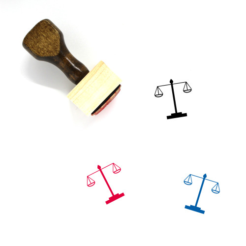 Scale Wooden Rubber Stamp No. 252
