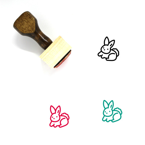 Rabbit Wooden Rubber Stamp No. 264
