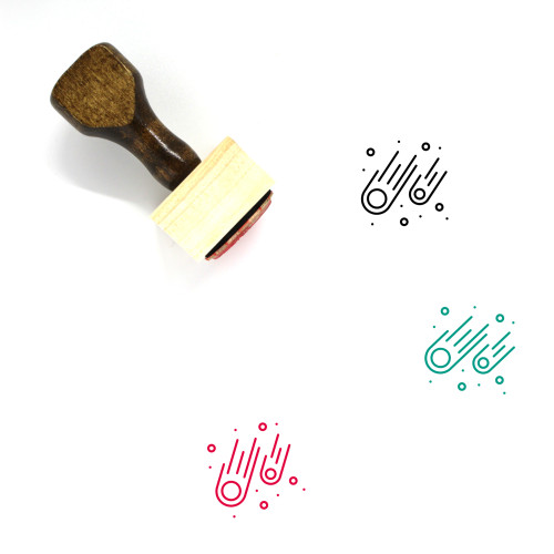 Meteors Wooden Rubber Stamp No. 1