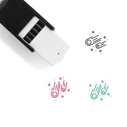 Meteors Self-Inking Rubber Stamp No. 1
