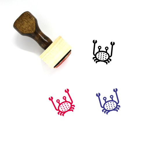 Crab Wooden Rubber Stamp No. 43