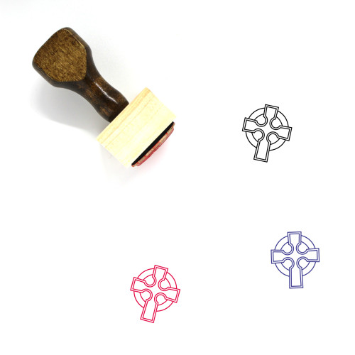 Celtic Cross Wooden Rubber Stamp No. 8