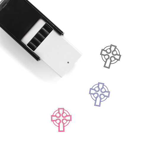 Celtic Cross Self-Inking Rubber Stamp No. 8