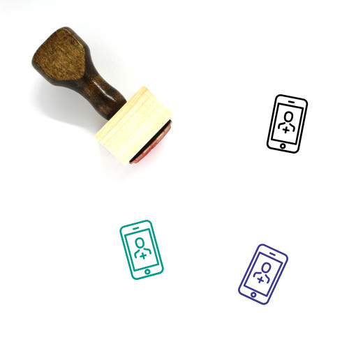 Add User Wooden Rubber Stamp No. 59