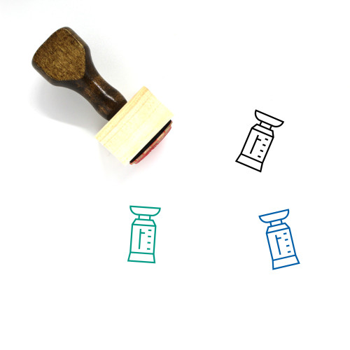 Weighing Scale Wooden Rubber Stamp No. 16