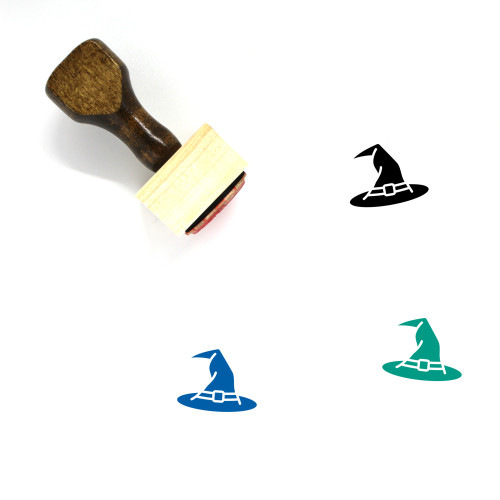 Witch Hat Wooden Rubber Stamp No. 42