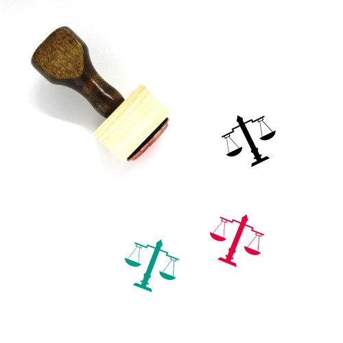 Balance Wooden Rubber Stamp No. 104