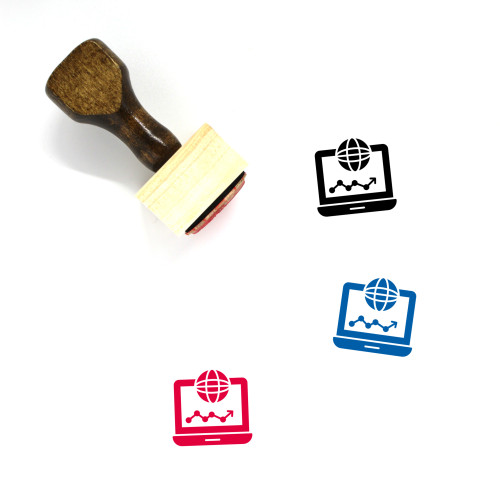 Global Network Wooden Rubber Stamp No. 47