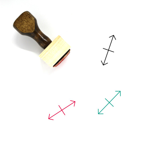 Stretch Arrow Wooden Rubber Stamp No. 1