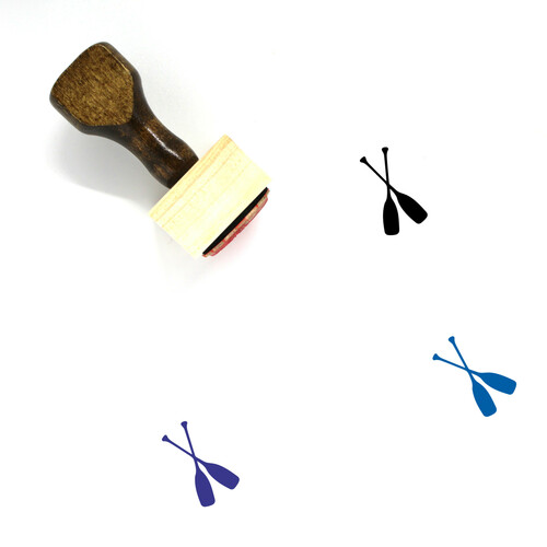 Oars Wooden Rubber Stamp No. 27