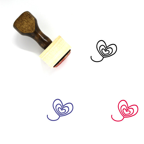 Heart Wooden Rubber Stamp No. 1453