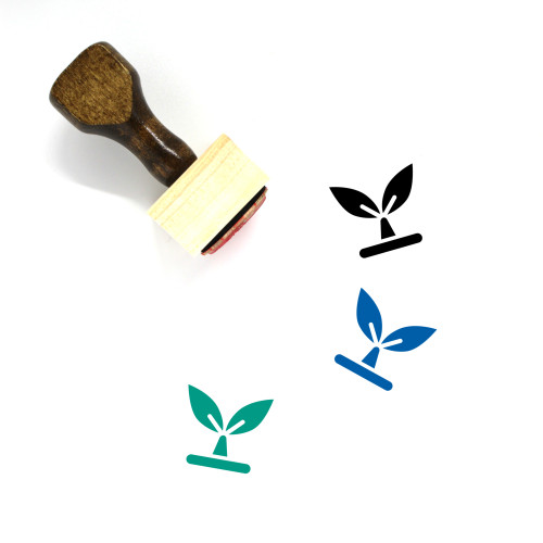 Seedling Wooden Rubber Stamp No. 2