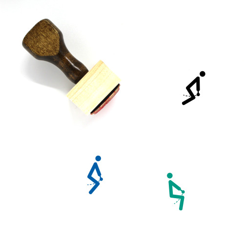 Kettlebell Swing Wooden Rubber Stamp No. 1