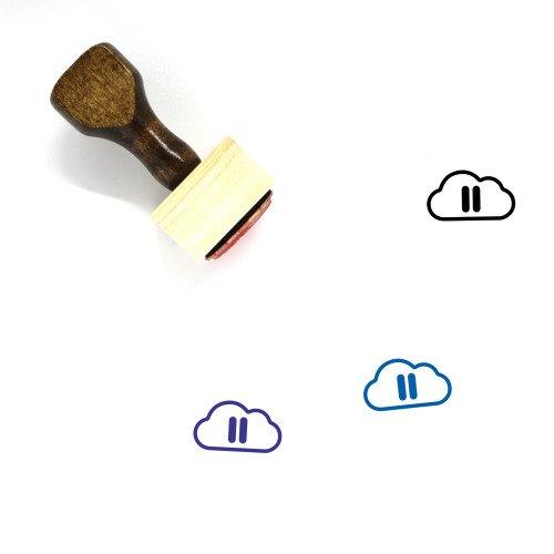 Pause Cloud Wooden Rubber Stamp No. 3