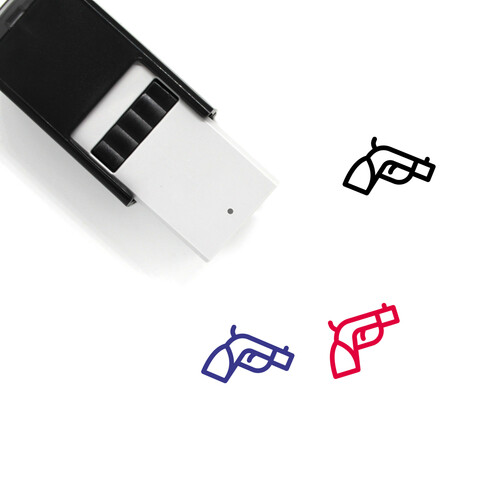 Pistol Self-Inking Rubber Stamp No. 42