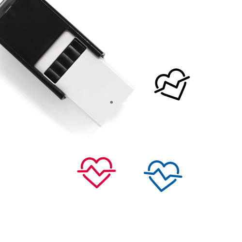 Heart Beat Self-Inking Rubber Stamp No. 34